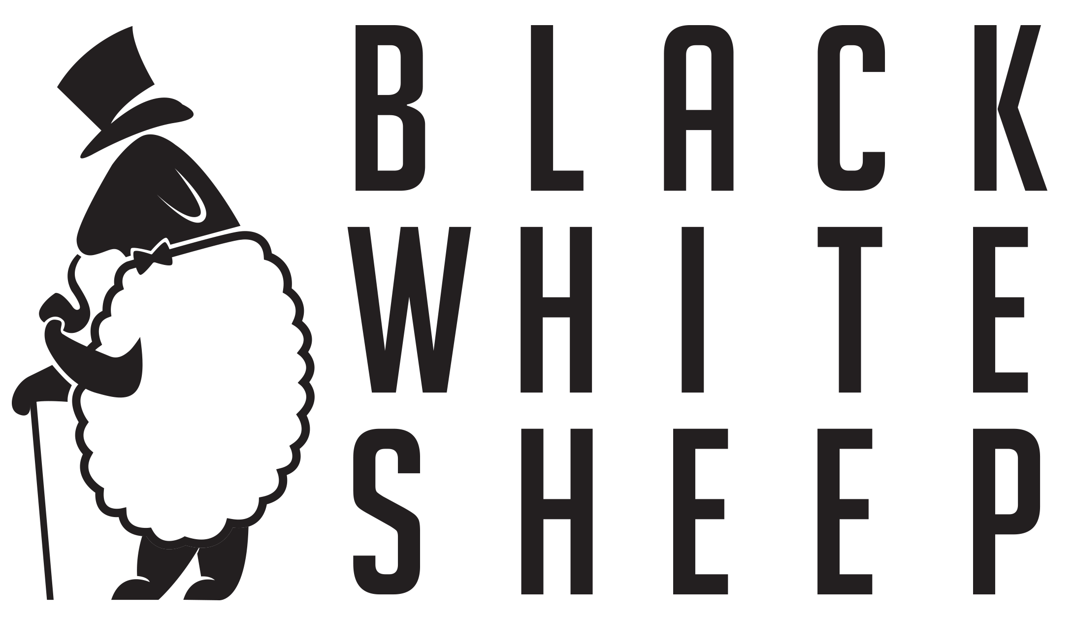 Black White Sheep logo